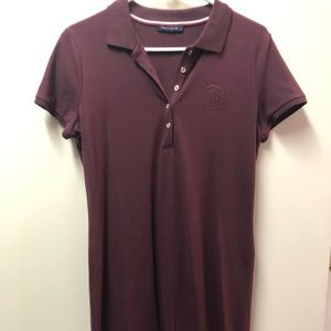 Tommy polo dress size M-L color maroon